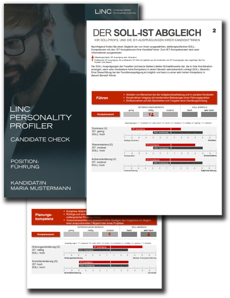 LINC PERSONALITY PROFILER Candidate Check Persönlick